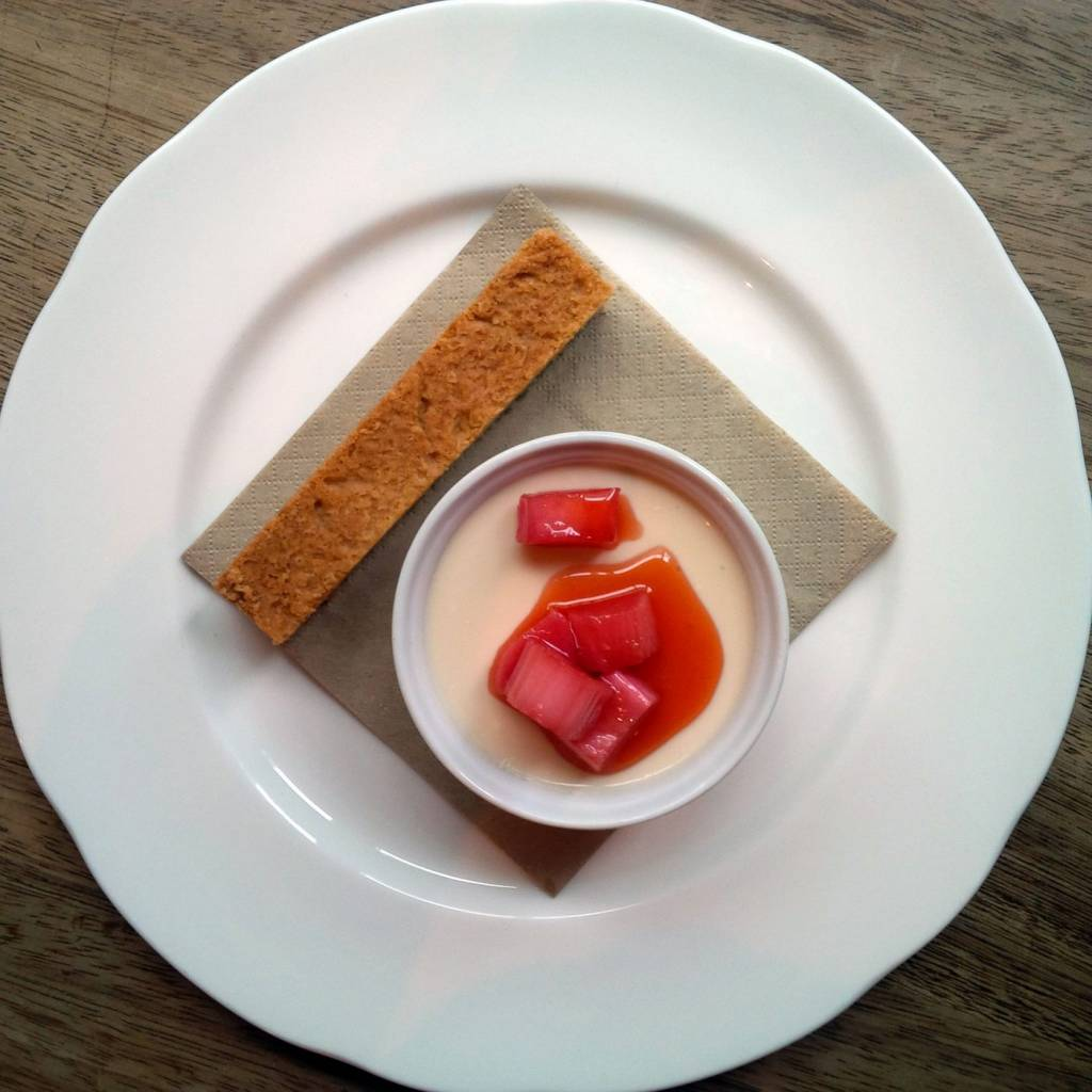 Buttermilk Pudding with Yorkshire Rhubarb
