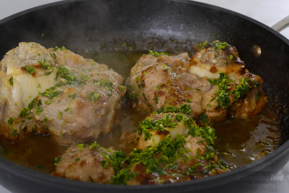 Osso bucco Alla Milanese in a pan