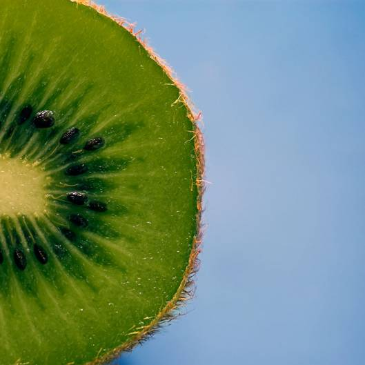 kiwi fruit cut in half