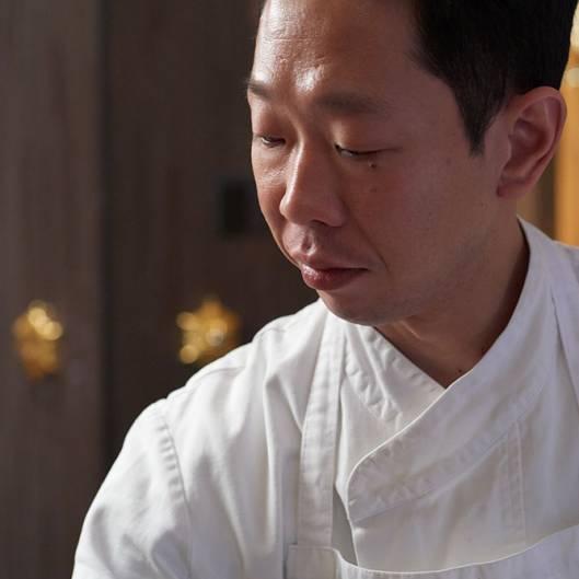 Japanese male sushi chef portrait